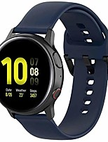cheap -fit for samsung galaxy watch active2 40mm/44mm watch bands, garmin vivoactive 3 bands, 20mm quick release silicone band straps wristbands for ticwatch c2 (blue, small)