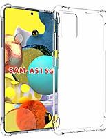 cheap -galaxy a51 5g case,samsung a51 5g case, soft tpu crystal transparent slim anti slip protective phone case cover for samsung galaxy a51 5g(clear anti-shock tpu)