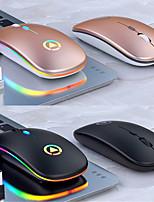 cheap -A2 Wireless Bluetooth / Wireless 2.4G Optical Silent Mouse / Rechargeable Mouse Multi-colors Backlit 1600 dpi 3 Adjustable DPI Levels 4 pcs Keys 2 Programmable Keys