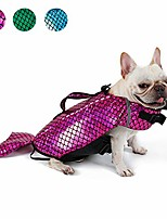 cheap -dog swimming jacket, reflective dog life jacket vest swimwear, adjustable dog float coat, pink, large