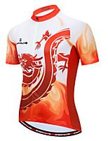 cheap -Women's Short Sleeve Cycling Jersey Orange+White Bike Top Moisture Wicking Sports Clothing Apparel / Micro-elastic