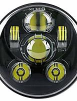 cheap -5-3/4 5.75 inch led headlight for har-ley david-son black projector motorcycle headlamp (black)