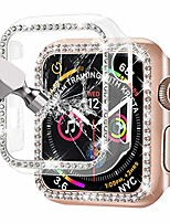cheap -[2-pack]  compatible with apple watch series 3/2/1 38mm bling hd tempered glass screen protector full coverage protective cover for iwatch (clear/rose gold)