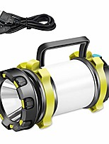 cheap -led camping latern rechargeable flashlight, power bank 6 modes waterproof and high lumen for camping, hiking, outdoor recreations, rechargeble batteries and usb charging cable included