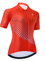 cheap -Women's Short Sleeve Cycling Jersey Red Bike Top Mountain Bike MTB Road Bike Cycling Breathable Quick Dry Sports Clothing Apparel / Stretchy / Athletic