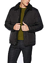 cheap -men's brixton faux sherpa lined box quilted jacket, black, medium