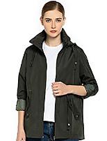 cheap -womens rain jacket waterproof active outdoor lightweight windbreaker breathable raincoat (army green, x-large)