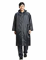 cheap -long sleeve outdoor travel raincoat unisex waterproof windproof hooded coat - black
