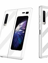 cheap -galaxy fold case,  ultra slim smooth glitter shiny porcelain design 360 full body protection shock absorbing thin flexible hard case cover for samsung galaxy fold 2019, white