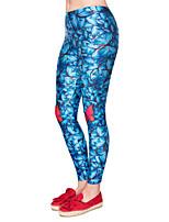 cheap -Women's Sporty Comfort Skinny Gym Yoga Leggings Pants Patterned Ankle-Length High Waist Green