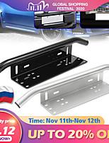 cheap -Car number plate Offroad Front License Number Plate Bracket Frame Holder Light Bar Mount Bumper For SUV Truck Vehicle