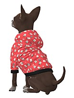 cheap -Dog Hoodie Gift Reindeer Casual / Sporty Fashion Christmas Casual / Daily Winter Dog Clothes Puppy Clothes Dog Outfits Breathable Red Costume for Girl and Boy Dog Polyster S M L XL