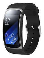 cheap -compatible with samsung gear fit2 pro band, gear fit 2 bands women men, silicone replacement bands straps wristband bracelet watch band for gear fit2 pro (black)