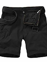 cheap -men's classic relaxed fit stretch cargo shorts comfort flat front hiking shorts,black,32