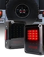 cheap -bold series smoke lens led tail lights w/red brake rear light, turn signal & back up light for jeep wrangler jk jku 2007-2018