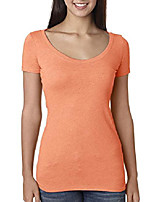 cheap -women tri-blend scoop, vintage light orange, xx-large