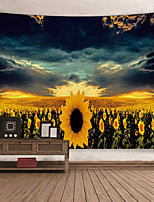 cheap -Wall Tapestry Art Decor Blanket Curtain Picnic Tablecloth Hanging Home Bedroom Living Room Dorm Decoration Polyester Sky Background Sunflowers Beauty Views