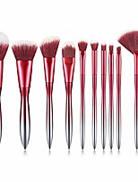 cheap -makeup brushes 10 pcs makeup brush set premium synthetic foundation powder kabuki brushes concealers eye shadows make up brush kit, gradient red