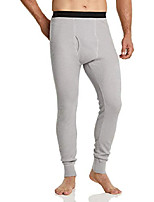 cheap -men's waffle bottom underwear long johns stretchy thermal with fly, outdoor(hup502) - light grey, large