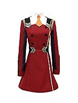 cheap -darling in the franxx uniform zero two cosplay costume (xxl, red)