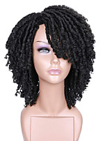 cheap -Short Synthetic Hair Dreadlock Wigs for Black Women and Men Crochet Twist Braids Wigs Afro Curly Synthetic Hair Braiding Wig Africa Hairstyle (Ombre Blonde)