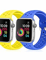 cheap -compatible with apple watch band 38mm 40mm, soft silicone replacement strap compatible for iwatch series 6, 5, 4, 3, 2, 1 for women and men (sapphire blue & shiny yellow, 38mm/40mm)