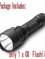 cheap -led flashlight, c8 t6 torch,lantern,lanterna bike,self defense,camping light, lamp,for bicycle