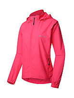 cheap -21Grams Women's Long Sleeve Cycling Jacket Polyester Rose Red Solid Color Bike Jacket Top Mountain Bike MTB Road Bike Cycling Breathable Quick Dry Reflective Strips Sports Clothing Apparel / Stretchy