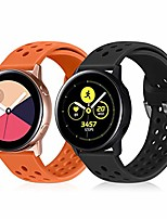 cheap -20mm quick release silicone watch band,  soft rubber replacement watch straps compatible with samsung galaxy watch active, pebble, ticwatch, moto mens womens (black+orange, 20mm)