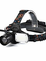 cheap -usb rechargeable headlamp flashlight, 5000 lumen ultra-light bright led headlight, strong light t6 headlight, cob auxiliary light, waterproof for camping fishing, car repair.(adjustable)