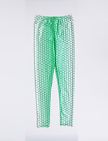 cheap -Women's Sporty Comfort Gym Yoga Leggings Pants Patterned Ankle-Length Print Green