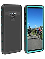cheap -samsung galaxy note 9 waterproof case,  ip68 waterproof shockproof snowproof dustproof full body protection underwater cover with built-in screen protector for samsung note 9 aqua blue