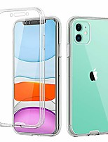 cheap -compatible iphone 11 case,360 full body two piece slim crystal transparent case with built-in screen protector for apple iphone 11 6.1 inch,clear