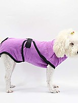 cheap -dog bathrobe, microfiber dog drying towel dog bath robe super absorbent dog towels coat for puppy cats small medium dogs (s,purple)