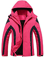 cheap -cloudy women's mountain jacket fleece windproof ski jacket(rose red,l)