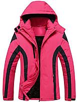 cheap -cloudy women's mountain jacket fleece windproof ski jacket(rose red,l)