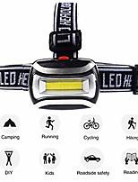 cheap -led headlamp 3 modes outdoor camping fishing cycling headlamp led head light lamp flashlight perfect for runners, lightweight, waterproof, adjustable headband black