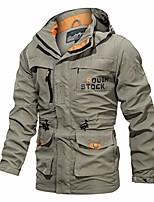 cheap -men's autumn winter hoodie coat jacket waterproof hooded zipper warm outwear warm fleece casual outdoor long sleeve (xxxxl, khaki)