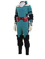 cheap -my hero academia midoriya izuku jumpsuit halloween cosplay costume battle suit xl blue