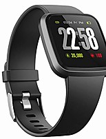 cheap -h4 fitness health 2in1 smart watch for men women smartwatch with all-day heart rate / blood pressure / sleep monitor ip67 waterproof sports activitity tracker bluetooth watch(blk)