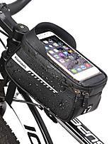 cheap -1.5 L Bike Frame Bag Top Tube Touch Screen Reflective Portable Bike Bag PU(Polyurethane) Bicycle Bag Cycle Bag Outdoor Exercise Multisport