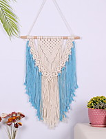 cheap -Hand Woven Macrame Wall Tapestry Bohemian Boho Art Decor Blanket Curtain Hanging Home Bedroom Living Room Decoration Nordic Handmade Tassel Cotton Blue