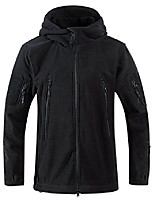cheap -men's full zip hooded tactical fleece jacket mutiple colors (x-large, black)