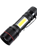 cheap -TM-D07 USB LED Light Handheld Flashlights / Torch Waterproof 800 lm LED Emitters 3 Mode Waterproof Portable LED Easy Carrying Durable Camping / Hiking / Caving Everyday Use Fishing Black