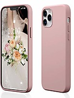 "cheap -case compatible for iphone 12/compatible for iphone 12 pro, liquid silicone rubber [scratch resistant] [elevated camera border protective corner] [anti-yellowing] case for iphone 6.1"" 2020–pink"