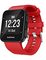 cheap -watch straps compatible with garmin forerunner 35/30 band, soft silicone watch band replacement strap for smartwatch(red)