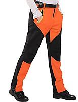 cheap -women waterproof trousers fleece hiking pants trekking pants climbing pants (orange, s)