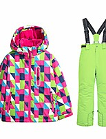 cheap -girls snow jacket windproof fleece lined waterproof ski suits (size us4 - us16) (us 6 (height 118cm), style3)