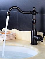 cheap -Kitchen faucet - Single Handle One Hole Electroplated Standard Spout Centerset Contemporary / Antique Kitchen Taps