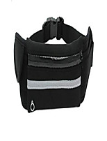 cheap -running waist packs waterproof fabric for men and women fitness cycling hiking outdoor sports (black)